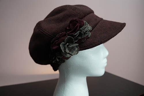 burgandy cap