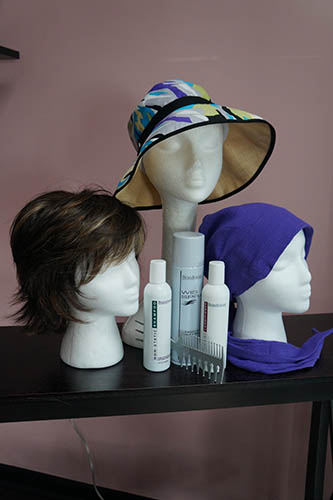 hat turban and brown hair purples